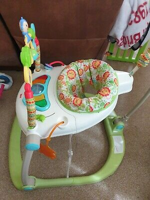 £30 • Buy Fisher-Price CHN38 Rainforest Spacesaver Jumperoo Portable Baby Chair