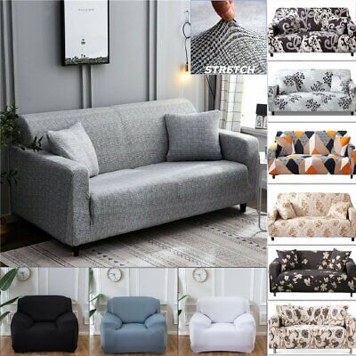 AU19.99 • Buy 1 2 3 4Seater Stretch Sofa Cover Couch Lounge Recliner Chair Slipcover Protector