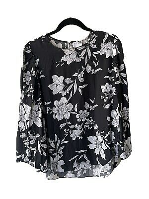 AU4.99 • Buy Witchery Floral Blouse/Shirt Black And White