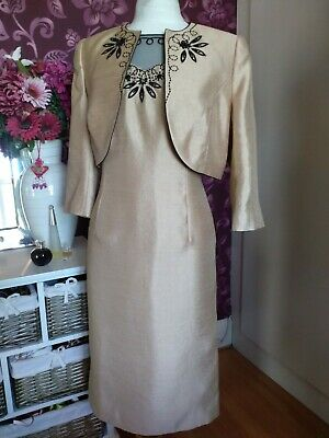 £29.75 • Buy BNWT Jacques Vert Pale Gold Dress And Jacket Size 12