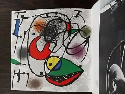 £85.01 • Buy Joan Miro 2 Original Lithographs! Authenticity Guaranteed, With Book As Issued.