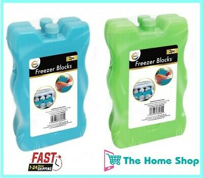 £7.99 • Buy Large Freezer Ice Blocks For Cool Bag Picnic Travel Lunch Box Reusable 250g