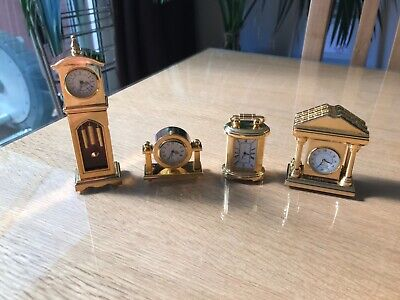 £39.99 • Buy Collection Of 4 Miniature Clocks - New Batteries Fitted
