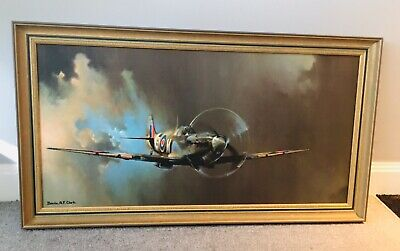 £70 • Buy Large Spitfire Picture Print  By Barrie A.F. Clark Picture In Gilt Style Frame