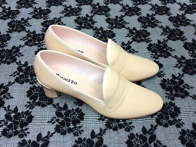 £94.53 • Buy Repetto Elvis Nude Loafer Chunky Heel Shoe Size EU 41 Slip On Pump Patent