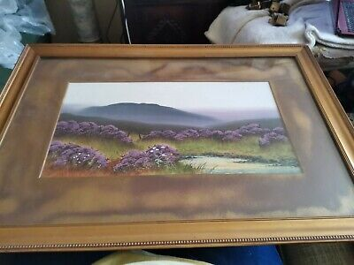 £29.99 • Buy Antique 19th Century Painting Of Dartmoor UK DELIVERY ONLY