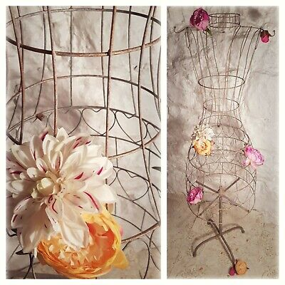 £39 • Buy Vintage Style Upcycled Shabby Chic Metal Wire Display Mannequin Bespoke