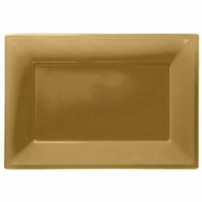 £3.89 • Buy Plastic Serving Platter Plates Trays Wedding Buffet Party Tray Gold