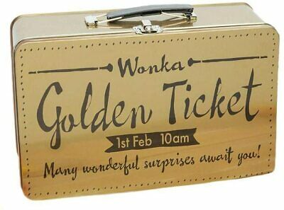 £9.95 • Buy Roald Dahl. Charlie & The Chocolate Factory. Golden Ticket Lunch Box Tin.