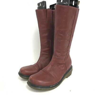 £10.50 • Buy Dr Martens Boots Women's UK 7 Burgundy Red Leather Mid-Calf Casual Shoes 041047