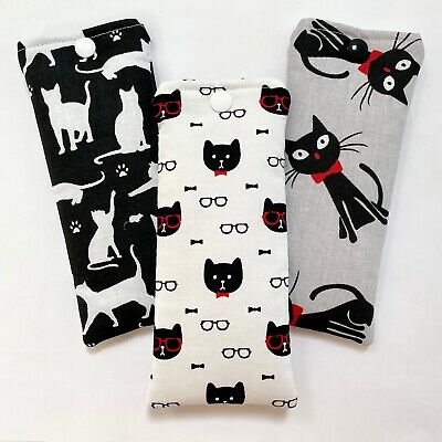 £4.20 • Buy Glasses Case Pouch | Handmade | Cat Themed Designs | Padded | Soft Case Lined