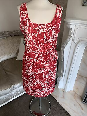 £14.99 • Buy Ladies Cream And Red Nougat Dress Size 4