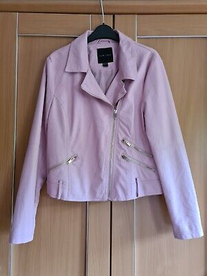 £14 • Buy Baby Pink Faux Leather Jacket * New Look * Size 14 * Super Cute!