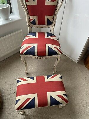 £195 • Buy CHAIR / UNION JACK  With Adjustable Footstool