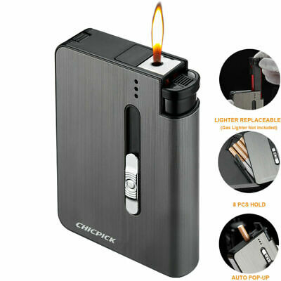 £4.99 • Buy Automatic POP-UP Cigarette Case Tobacco Storage Box Holder Replaceable Lighter