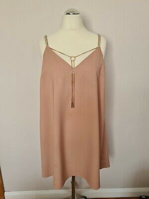 £17.99 • Buy River Island V-neck Summer Shift Dress With Detachable Jewellery Size 14