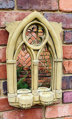 £19.55 • Buy Stone Double Mirror Arch Gothic Medieval Church 35cm Tall 🕍