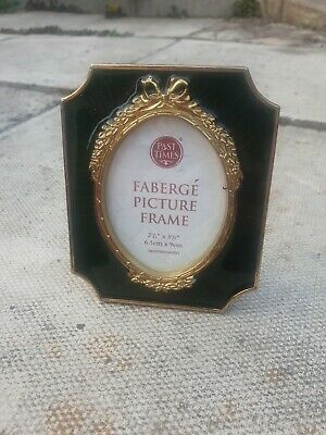 £3 • Buy New Past Times Faberge Picture Frame Green Gold 2.5  X 3.5  Photo Ornament