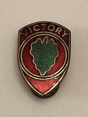 £19.99 • Buy US Army 24th Infantry Division Victory Lapel Badge.