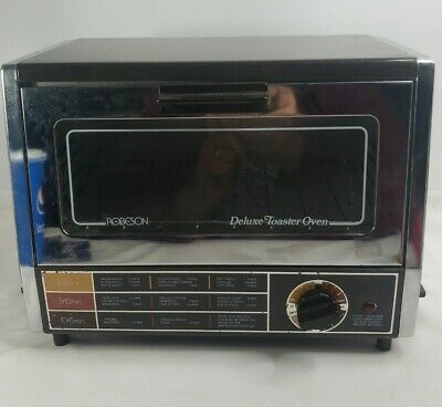 £26.19 • Buy Vintage Robeson Deluxe Toaster Oven Chrome Space Saving Small Compact Tested GUC