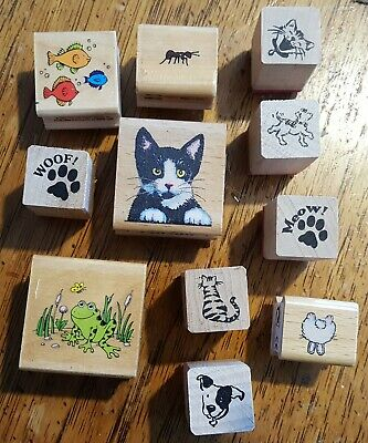 £4.96 • Buy Animal Rubber Stamp Kit With Ink (really Cute!)