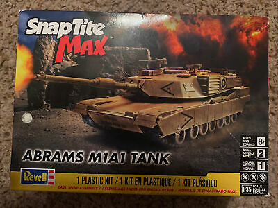 $19.99 • Buy REVELL SnapTite MAX ABRAMS M1A1 TANK 1/35 SCALE MODEL KIT Sealed Bags All There