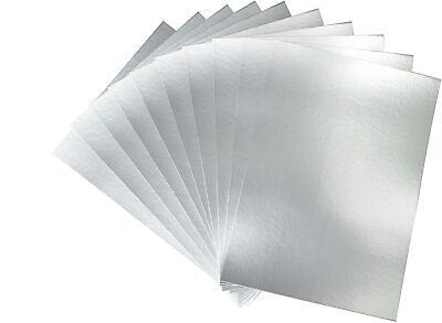 £3.25 • Buy Pack Of 10 Sheets A4 Silver Mirror Card