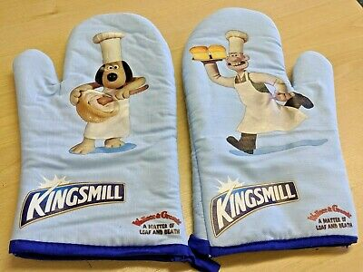 £7.25 • Buy Wallace And Gromit Kingsmill Oven Mitts - New - Rare