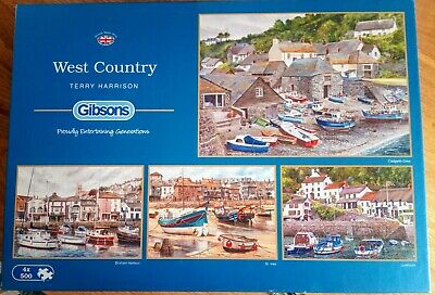 £3.70 • Buy 4 X Gibsons West Country 500 Piece Jigsaw Puzzles Terry Harrison Artist