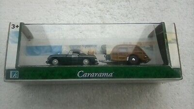 £29.95 • Buy  Cararma. 1/43 Scale . M.g.b. Soft Top.  Colour Green With Black Roof & Trailer.