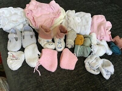 £1.70 • Buy 0-6 Months Baby Girl Bundle Of Socks, Tights, Booties, Shoes And Knickers