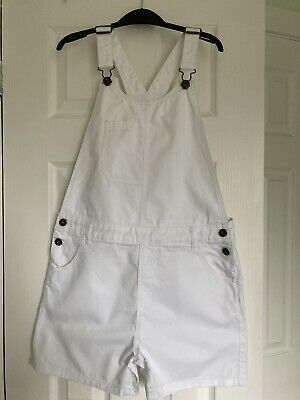 £3.50 • Buy John Lewis White Denim Short Dungarees Age 13 (Would Fit Size 6/8).