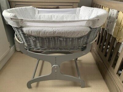 £80 • Buy Excellent Condition Clair De Lune Award Winning Bedside Crib / Cot /Moses Basket