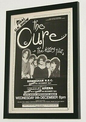 £13.99 • Buy THE CURE Framed A4 1987 `the Kissing Tour` Original Band Promo RARE Art Poster
