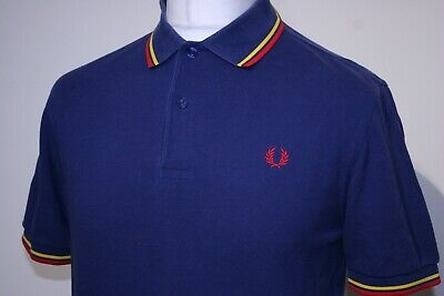 £4.20 • Buy Fred Perry Twin Tipped Polo Shirt - M - Blue/Bright Yellow/Red - M1200 - Mod Top