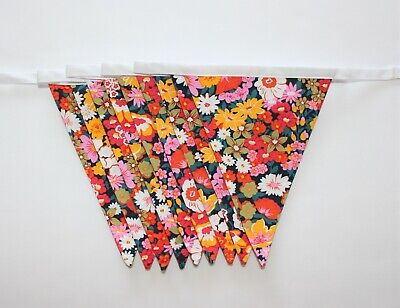 £19.99 • Buy Handmade Garland Double Sided Bunting | Vintage Liberty Floral 100% Cotton - 6ft