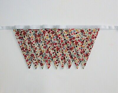 £19.99 • Buy Handmade Garland Double Sided Bunting | Vintage Ditsy Floral 100% Cotton - 6ft