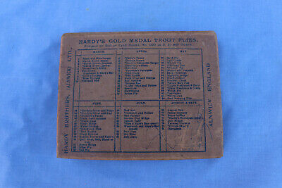 £20 • Buy Vintage Hardy Bros Gold Medal Trout Cardboard Fly Box