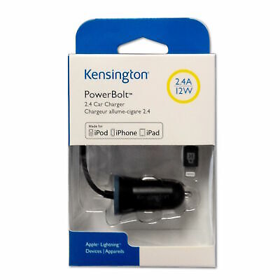 £3.99 • Buy Kensington MFi Certified  2.4 Amp IPhone / IPad Lightning In Car Charger  NEW