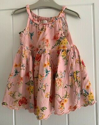 £2.95 • Buy Next Baby Apricot Pink Floral Summer Dress (12-18 Months)