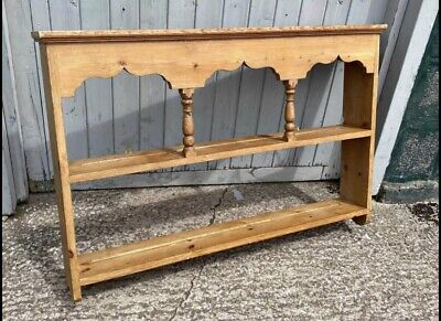 £44 • Buy Antique Pine  Kitchen  Wall Mounted Wooden Plate  Rack