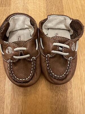 £3.50 • Buy Timberland Soft Leather Baby Moccasins Size 0.5 - New Born - 3 Months