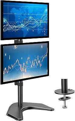 £48.15 • Buy HUANUO Dual Monitor Stand Vertical Stack Screen Free-Standing Holder LCD Desk