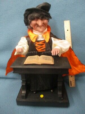 $ CDN120.24 • Buy HALLOWEEN ANIMATED WITCH Playing Piano PROP DECOR Battery Toy Laughs 13