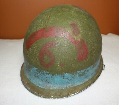 $39.99 • Buy American US Army WWII M-1 Helmet Shell W/ Damage And Postwar Paint