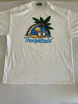 $11.99 • Buy Vintage Look The Hundreds Skate Cool Graphic Large Print T-Shirt Sz L (MM100)