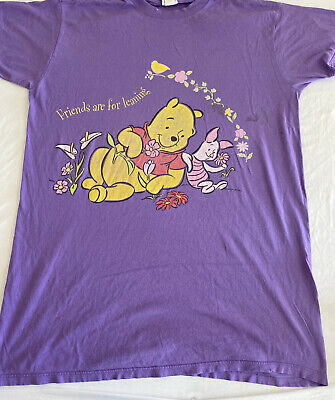 $10.99 • Buy Vintage Look Winnie The Poo Cool Graphic Large Print T-Shirt Size 2XL (MM51)