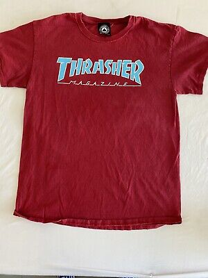 $14.99 • Buy Vintage Look Thrasher Magazine Cool Large Logo T-Shirt Men's Size Small (MM92)