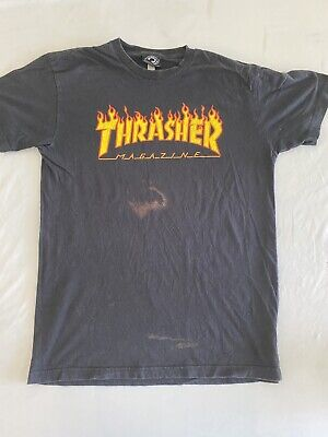 $14.99 • Buy Vintage Look Thrasher Skate Cool Graphic Large Print T-Shirt Sz Small (MM91)