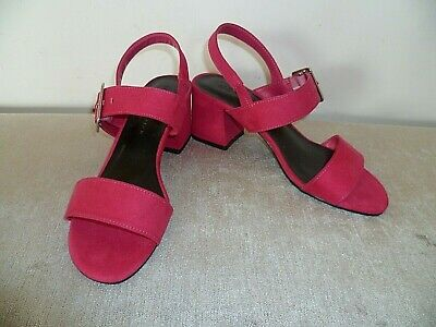 £9.99 • Buy Ladies Marks & Spencer Size 3.5 Magenta Pink Strappy Slingback Shoes